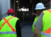 Members of the CSHub received a tour of an Aggregate Industries plant in July