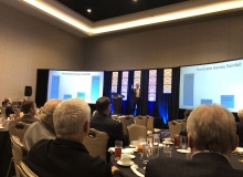 """Image: """"Chief Resiliency Officer for the City of Houston Steve Costello talking about the impact of Hurricane Harvey at the PCA Spring Board and Committee Meetings."""" via @PCA_Daily"""