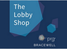 "Screen shot of ""The Lobby Shop"" podcast logo"