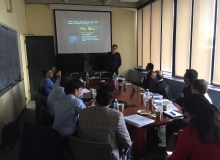 MIT CSHub Faculty Director Franz Josef Ulm presents to USTDA Delegates from India