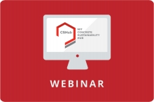 CSHub public webinar graphic, cshub logo displayed on a computer screen with a red background